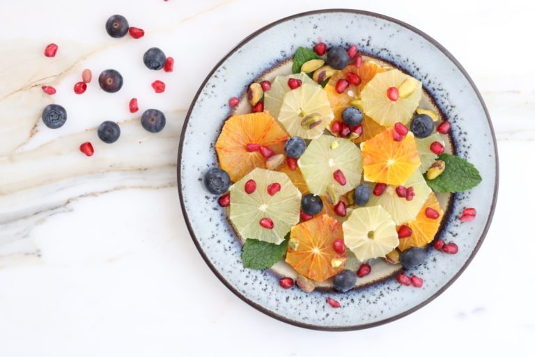 Obst im Teller